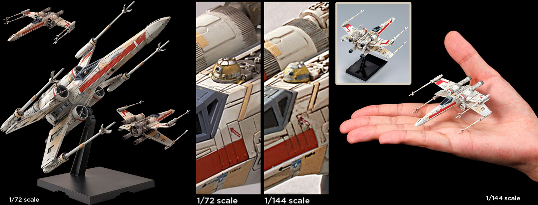 1/144-Scale & 1/72-Scale Red Squadron X-Wing Starfighter Special Set