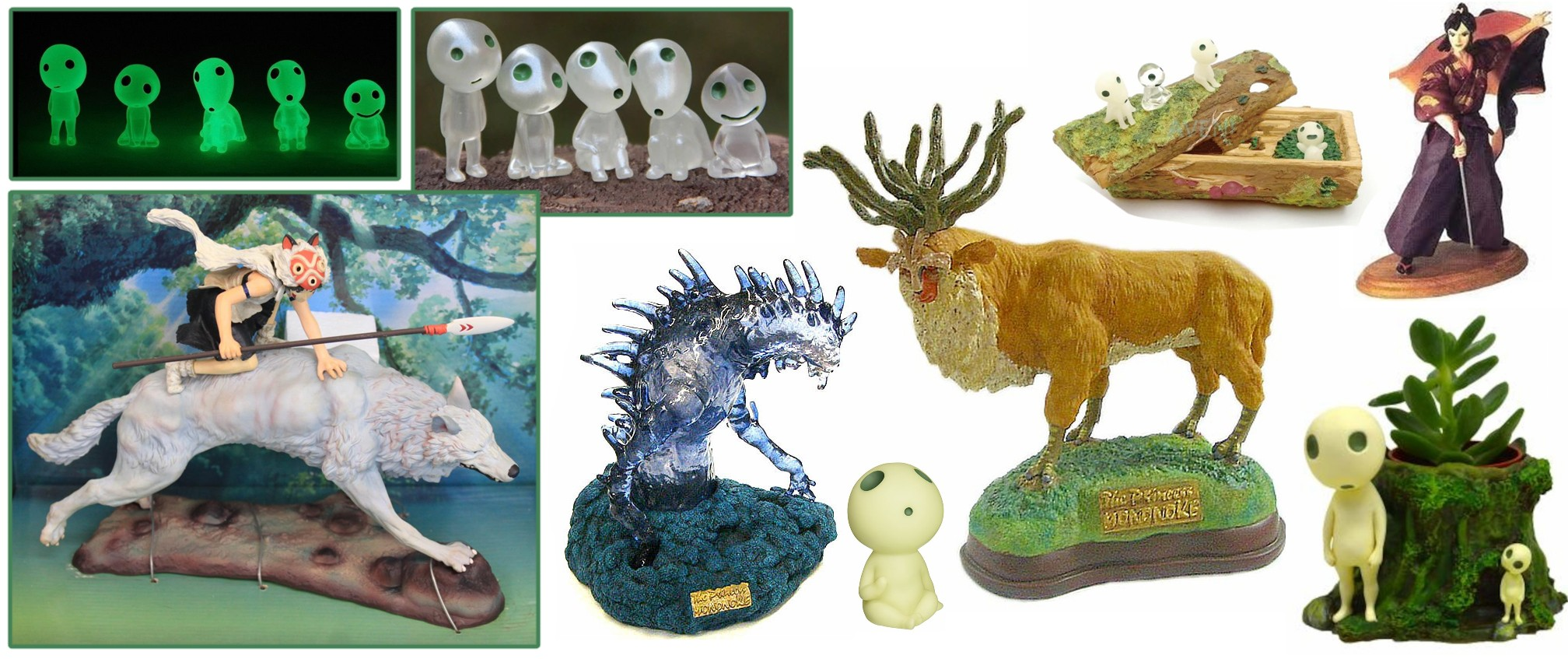 Princess Mononoke Figurines