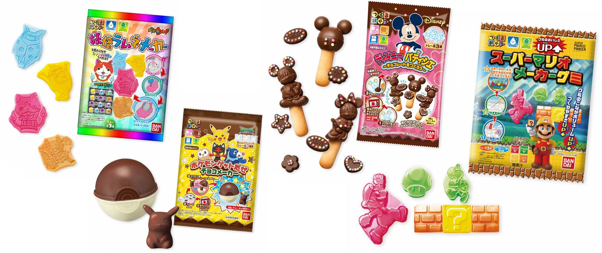 Bandai Character Candy Kits