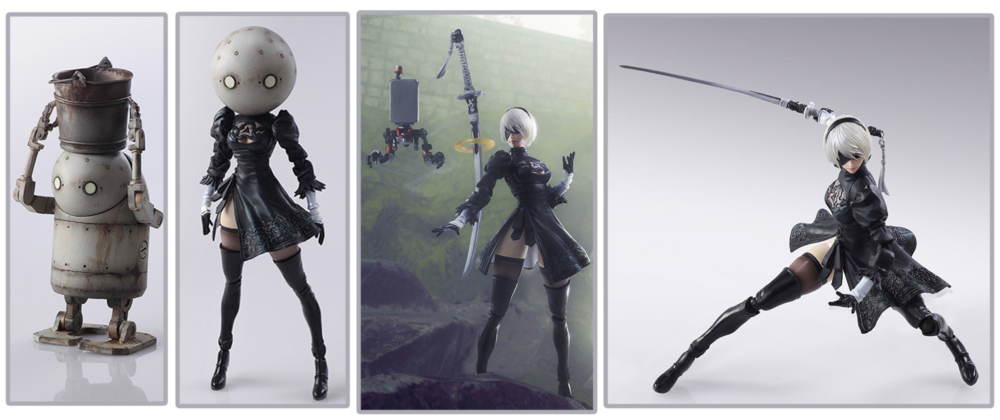 Square Enix – Bring Arts: NieR: Automata 2B & Machine Lifeform Set (March 2018)