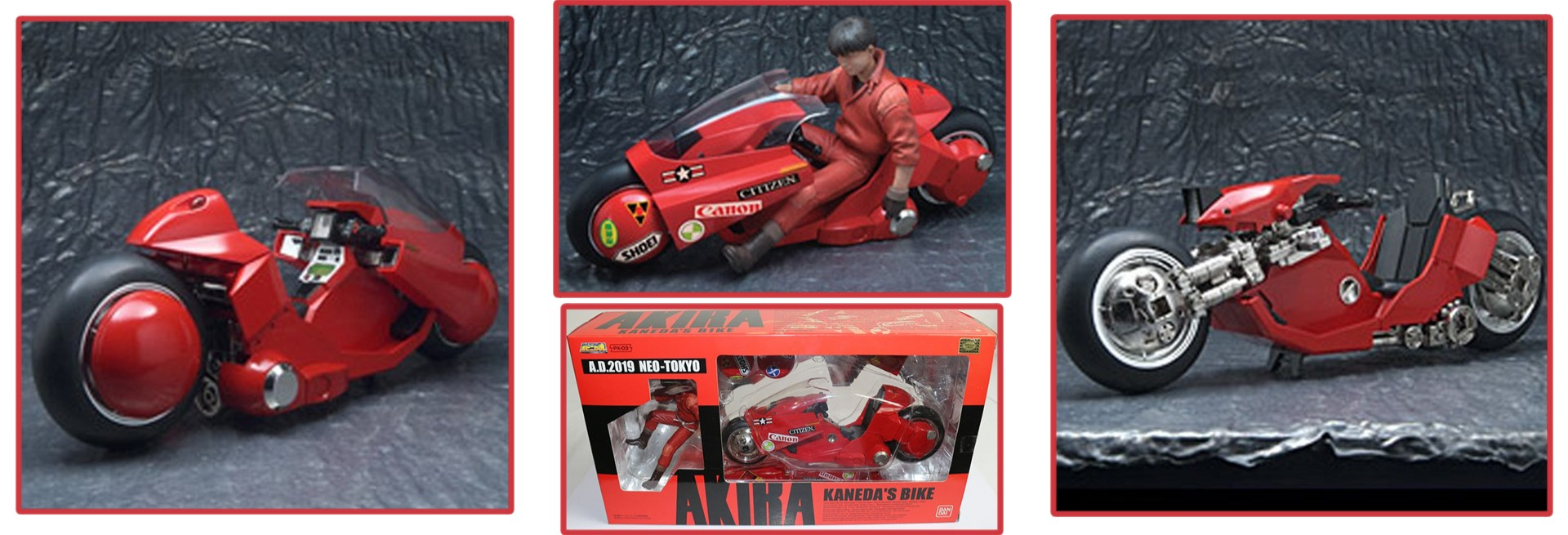 Medicom x Bandai: Soul of Popynica – Kaneda Bike & Figure Set