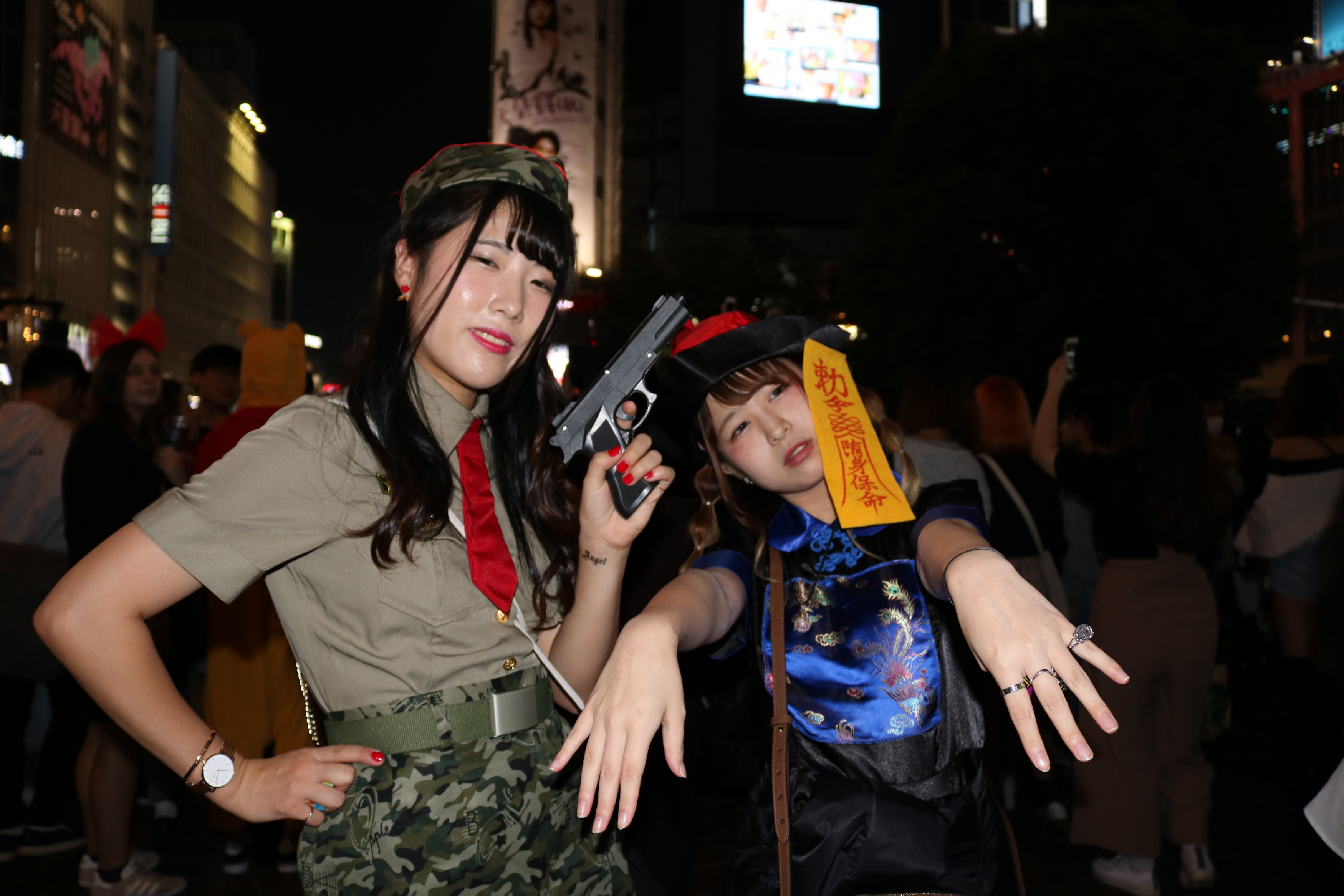 Halloween Costume Shibuya Army Girl and China Doll