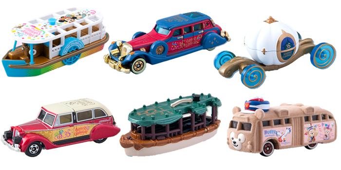 Tokyo Disney Resort 35th Anniversary: Tomica Vehicle Collection