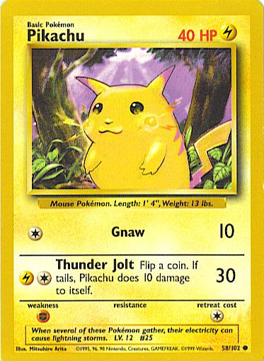 Pikachu (Base Set 58)