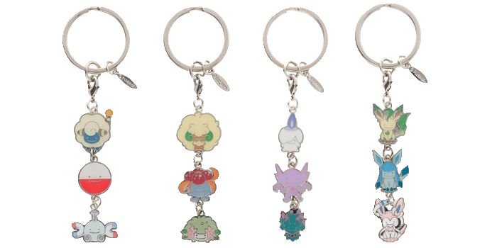 Ditto Transforms! Three Charm Keychains