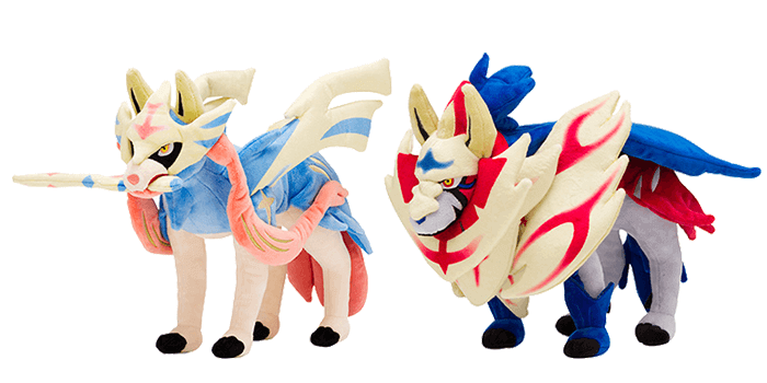 Pokemon Sword and Shield Legendary Plushies - Zacian and Zamazenta