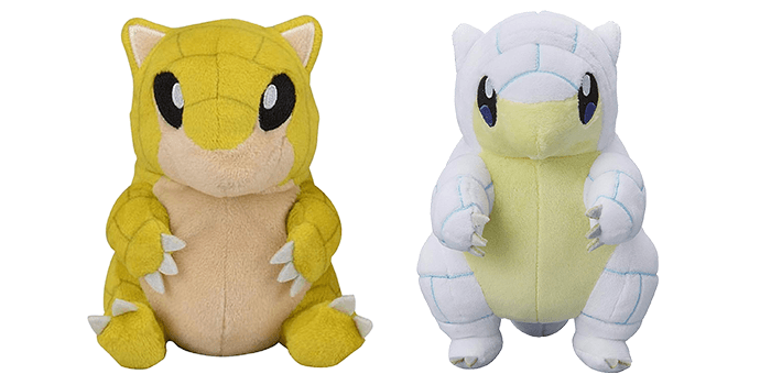 Sandshrew and Alolan Sanshrew