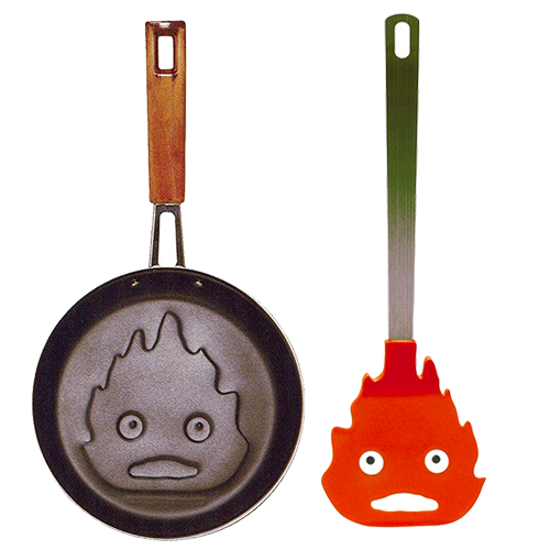 Howl's Moving Castle Calcifer Frying Pan and Spatula