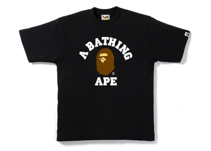 A BATHING APE College Tee