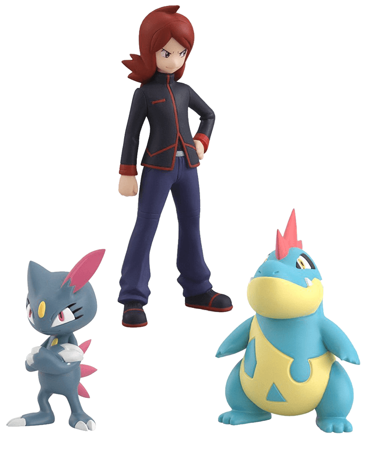 Pokemon Scale World Johto Region Silver, Sneasel and Croconaw Set