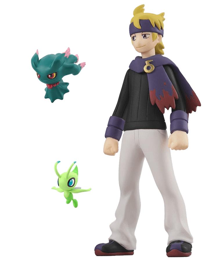 Pokemon Scale World Johto Region Morty, Misdreavus, and Celebi Set
