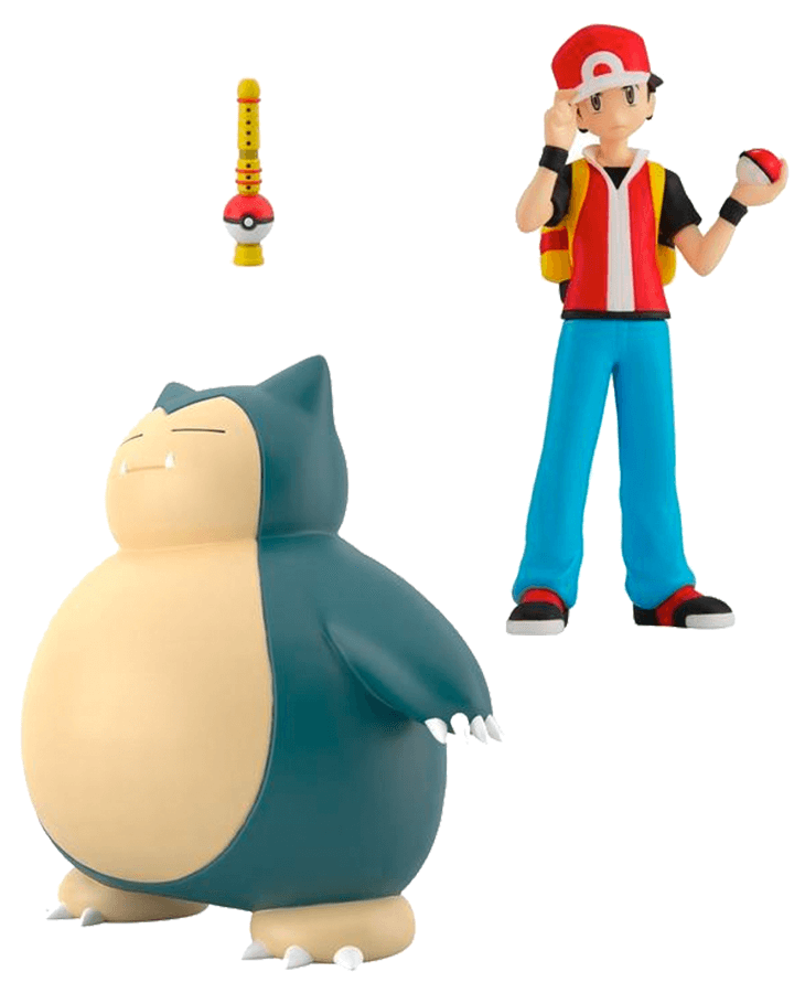 Pokemon Scale World Kanto Region Red, Snorlax, and Pokemon Flute Set