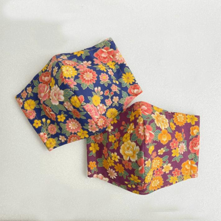 Cotton Washable Re-usable Mask (Japanese-style pattern)