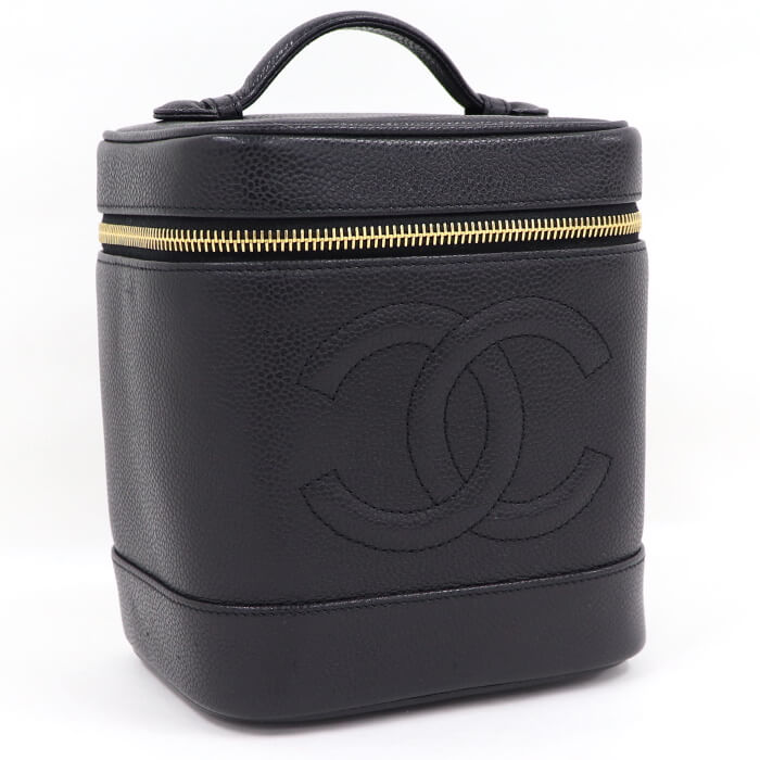 Chanel Caviar Skin Vanity Case Bag A01998