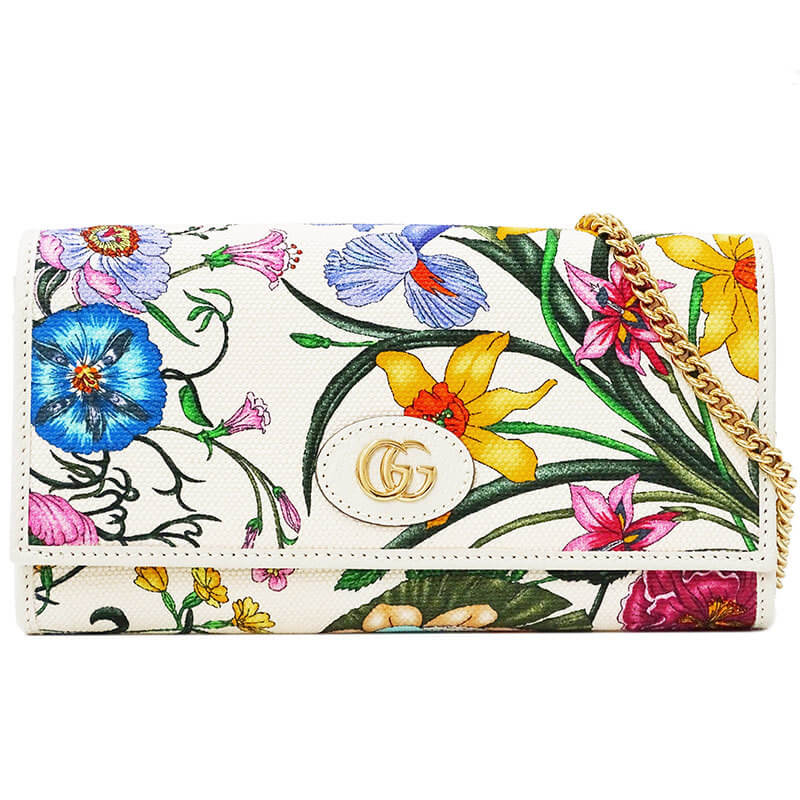 Gucci Flora Collection Japan Limited Chain Wallet