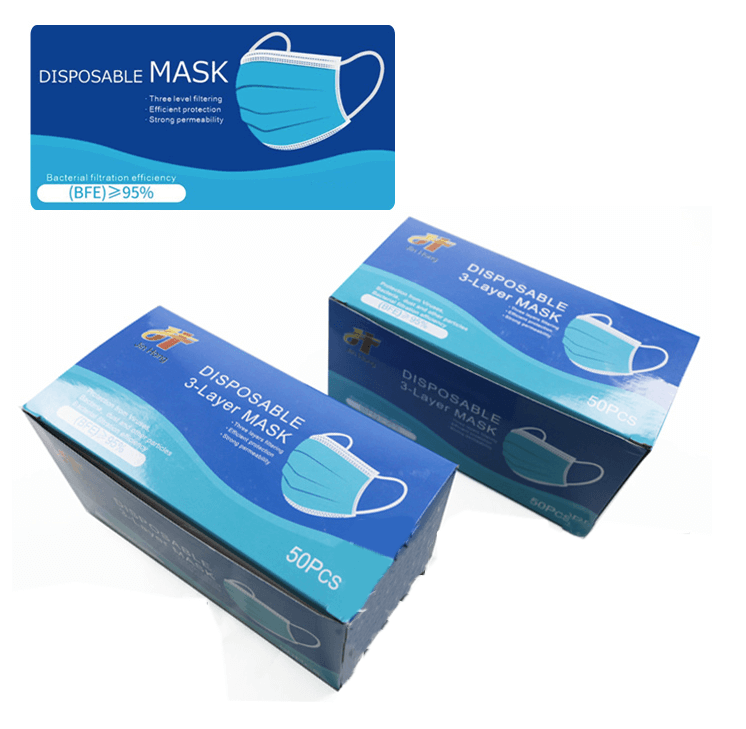 Disposable Face Masks box of 50 x 2