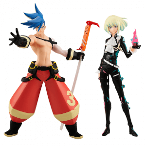 Promare Pop Up Parade Figures - Galo Thymos and Lio Fotia
