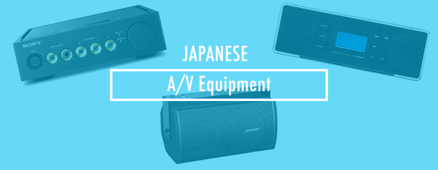 Buying Audio Visual Equipment from Japan