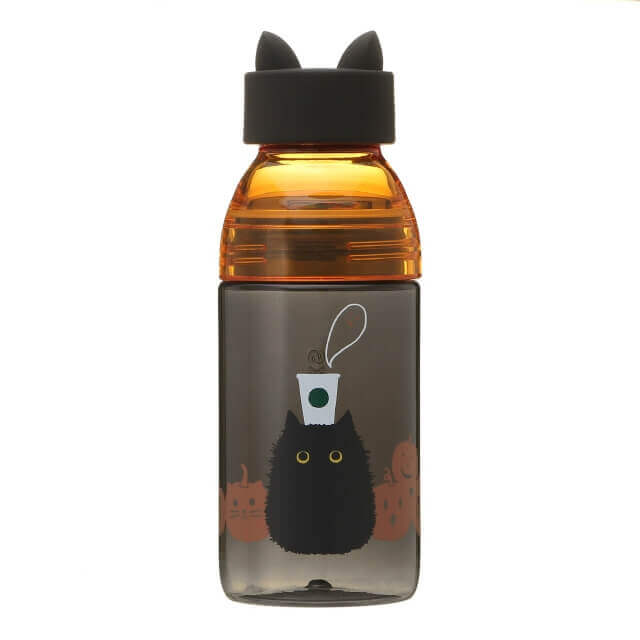 Starbucks Japan Halloween 2020 Cat Silicon Cap Bottle