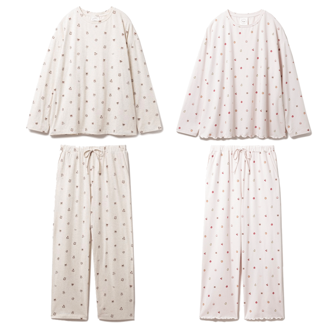 gelato pique x Animal Crossing: New Horizons Mini-size Pattern Pajamas