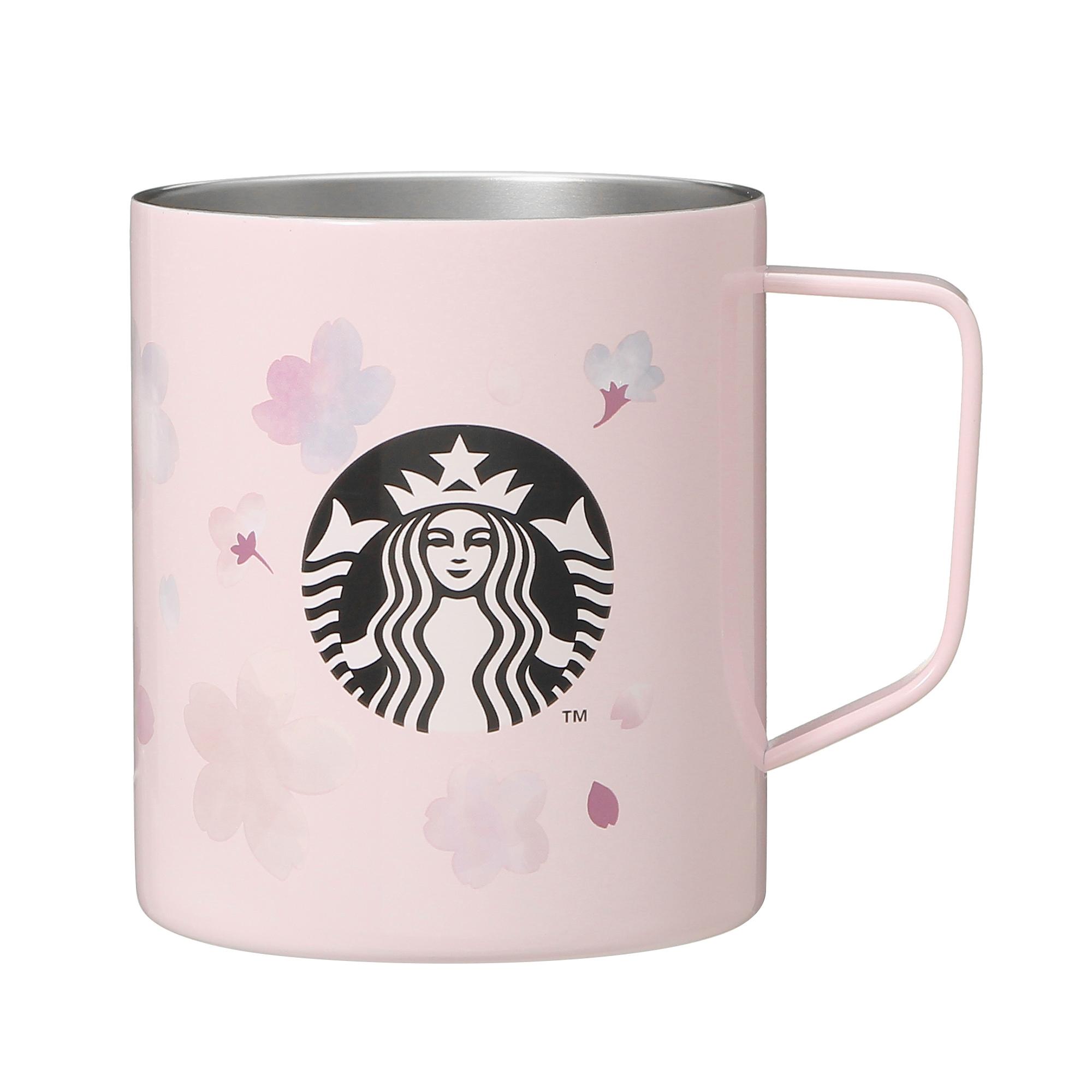 Starbucks Japan Sakura 2021 Stainless Steel Pink Breath Mug
