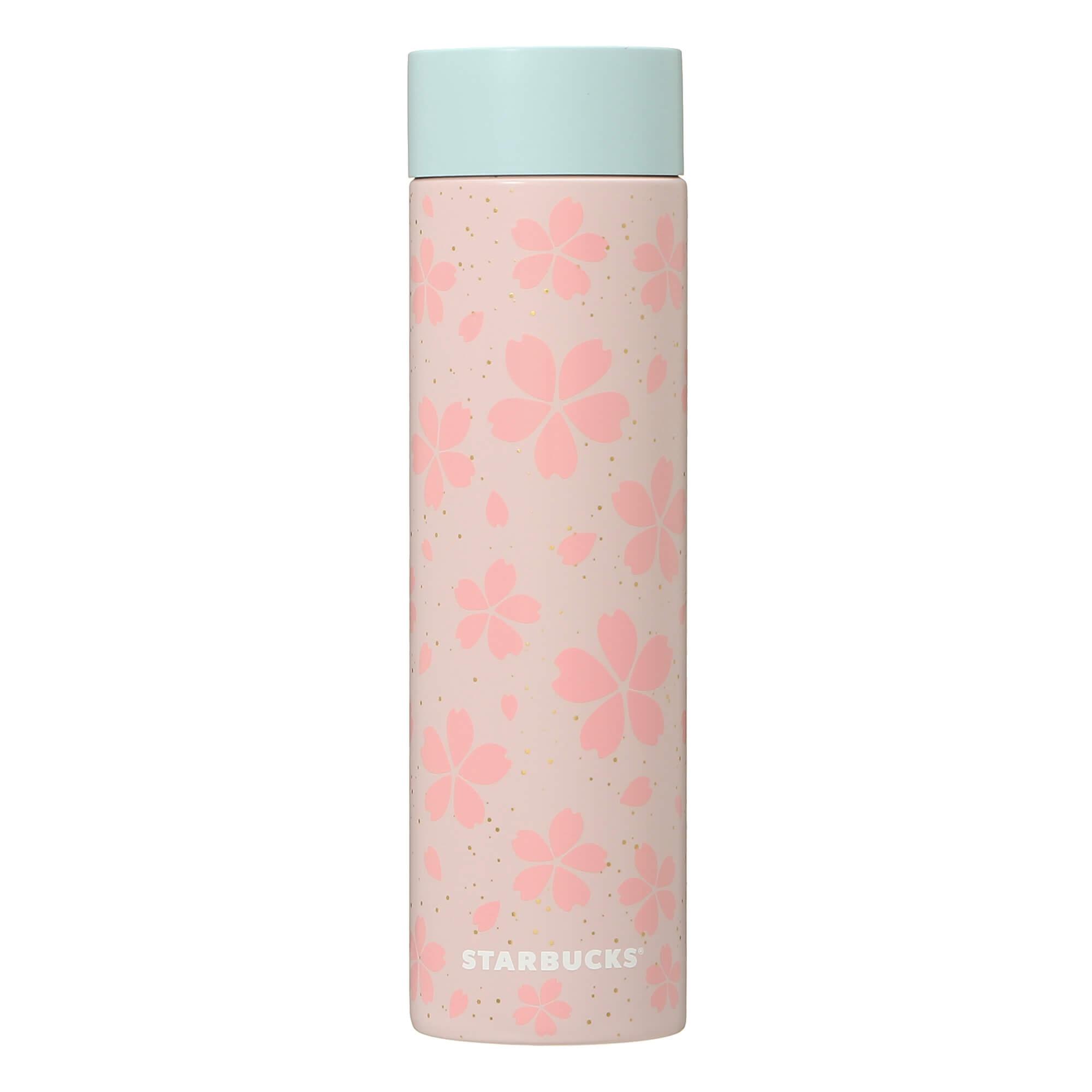 Starbucks Japan Sakura 2021 Stainless Bottle Gloss Flowers