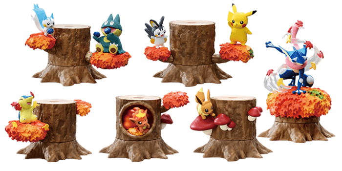 Pokemon Forest 5 Set Glowing Red Afternoon