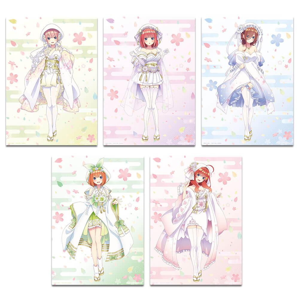 Prize G: Pure White Kimono themed Illustration board (five types) Size B5