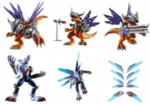 Digimon Shodo: MetalGreymon and WereGarurumon