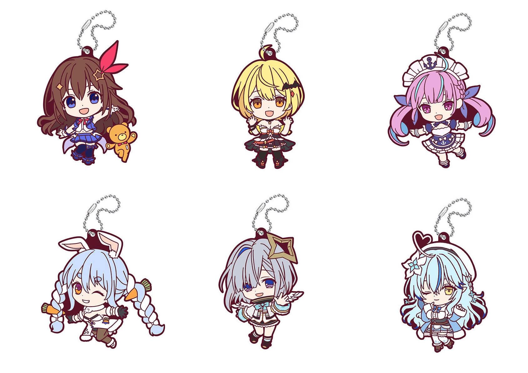 Hololive Rubber Mascot Gashapon Collection