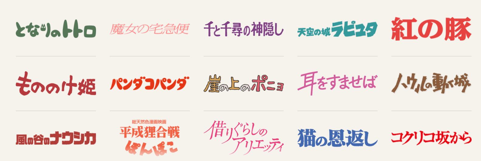 Studio Ghibli Donguri Sora Studio Ghibli movies list