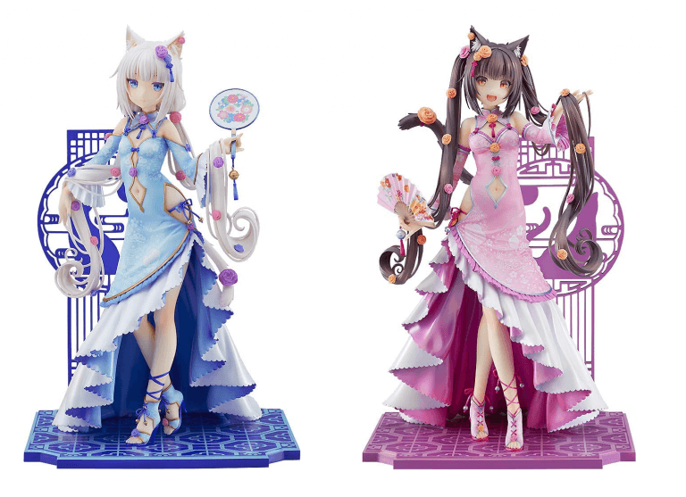 NekoPara Chocola and Vanilla: Cheongsam Gothic Lolita figures
