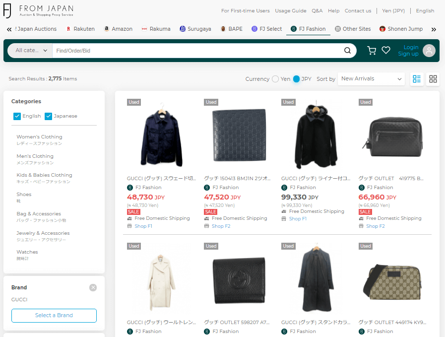 How to buy Gucci from Japan - Gucci FJ Fashion Page