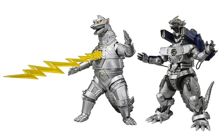Mechagodzilla (1974) and MFS-3 Type 3 Kiryu Mechagodzilla (2002) S.H. MonsterArts Figures