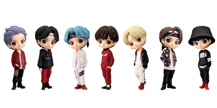 BTS Tiny Tan QPosket Figures