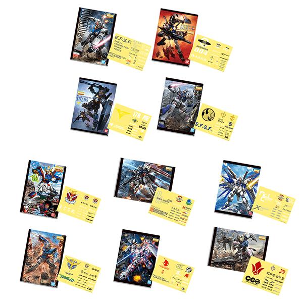Gundam Clear File Folder and Sticker Set