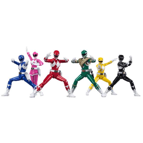 Shodo Super Mighty Morphin Power Rangers Figure Set